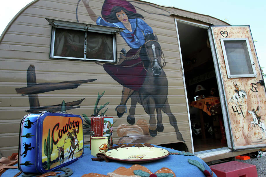 "Linda Brede's camper is named ""Norma Faye"" after her mother, who she said had an adventurous spirit. Photo: TOM REEL / San Antonio Express-News"