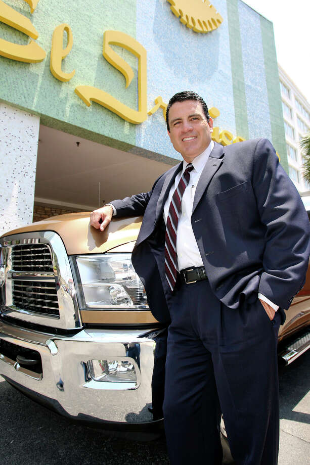 Fred Diaz, head of Chrysler Ram Trucks,  stands with a new Ram truck at the El Tropicano hotel  on May 24, 2012. Photo: Tom Reel, San Antonio Express-News / ©2012 San Antono Express-News