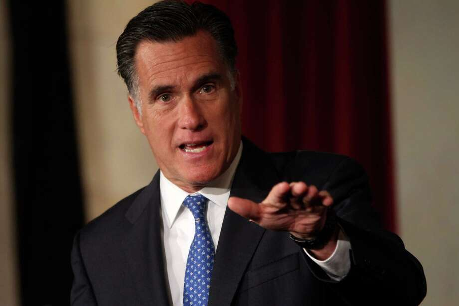 Republican presidential candidate, former Massachusetts Gov. Mitt Romney addresses the Latino Coalition's 2012 Small Business Summit,  Wednesday, May 23, 2012, in Washington. A reader says columnist O. Ricardo Pimentel is wrong about Romney's position on immigration reform being unclear. Photo: AP