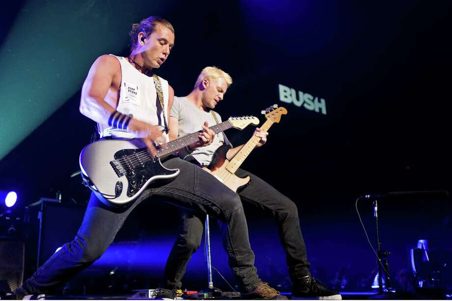 MOLINE, IL - APRIL 10:  Gavin Rossdale and Corey Britz perform at the I Wireless Center on April 10, 2012 in Moline, Illinois. Photo: Timothy Hiatt, Getty Images / 2012 Getty Images