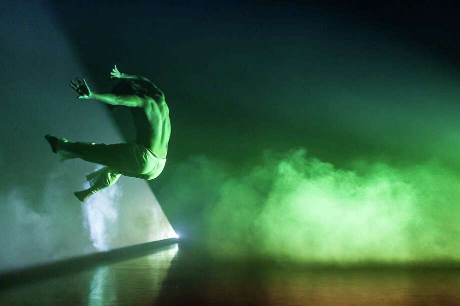 NobleMotion Dance collaborates with David J. Deveau in a piece that incorporates real-time projection design with performance at the Big Range Dance Festival's Program A, 8 p.m. Saturday and 7 p.m. June 3 at Barnevelder Movement/Arts Complex. Photo: Lynn Lane / Lynn Lane