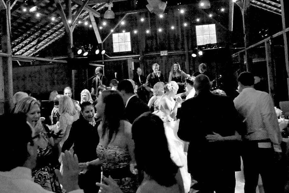 Kim Damm & Jeff Baker's wedding featured the band Notorious at Anadel Winery in June 2011 Photo: Gertrude & Mabel Photography