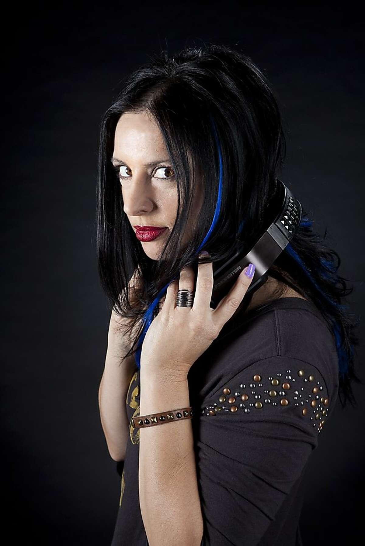"Nikki Blakk, DJ at 107.7 ""the Bone"" radio in San Francisco"
