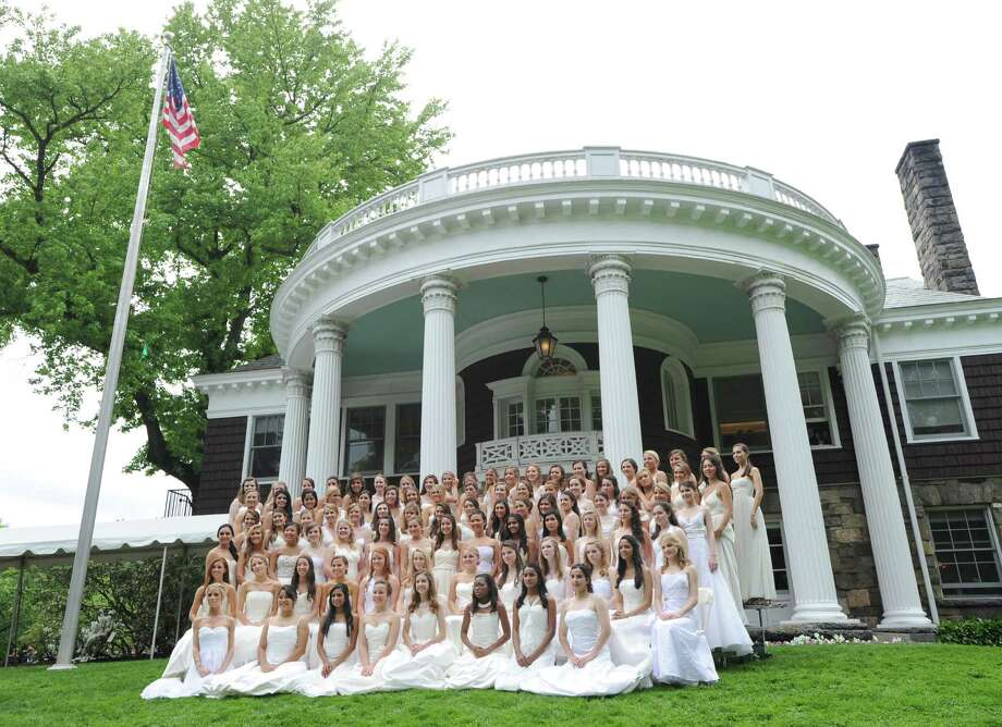 The Greenwich Academy Class of 2012 during the graduation ceremony at the main campus in Greenwich, Thursday, May 24, 2012. Photo: Bob Luckey / Greenwich Time
