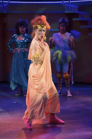 "Maureen McVerry is the unhappy Muse, Calliope, in Center Rep's ""Xanadu"" Photo: David Allen"