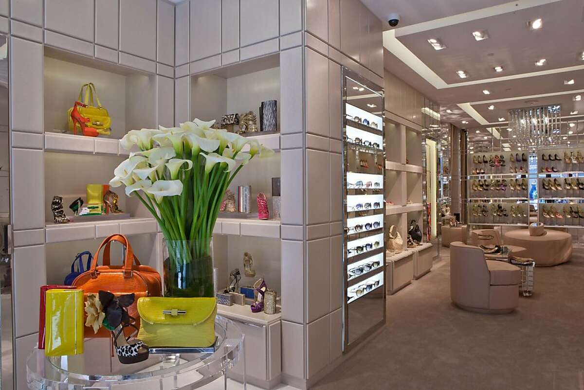 The new freestanding Jimmy Choo store at 166 Geary in San Francisco.