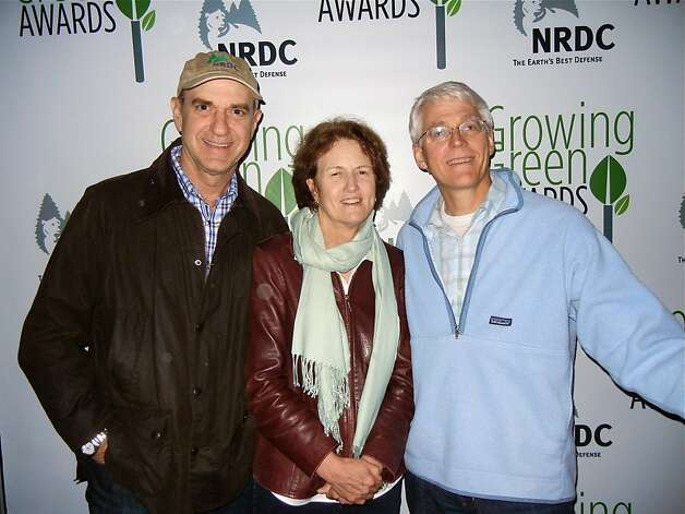NRDC Board member Bob Fisher (left) with NRDC President France Beinecke and NRDC Executive Director Peter Lehner. May 2012. By Catherine Bigelow. Photo: Catherine Bigelow, Special To The Chronicle