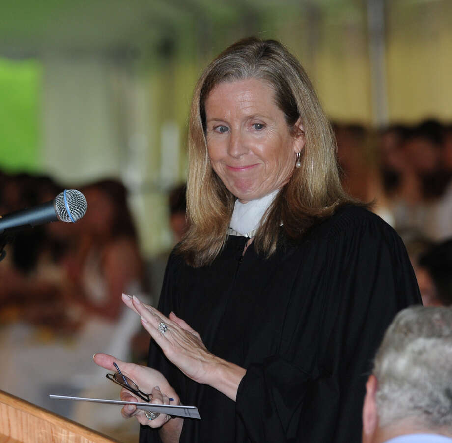 The Head of Greenwich Academy Molly King during the Greenwich Academy Graduation at the main campus in Greenwich, Thursday, May 24, 2012. Photo: Bob Luckey / Greenwich Time