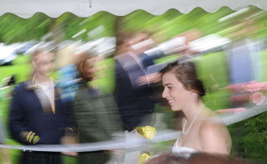 Annabel Coleman, 18, of Rye, during the Greenwich Academy Graduation at the main campus in Greenwich, Thursday, May 24, 2012. Photo: Bob Luckey / Greenwich Time