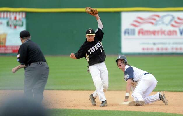 Staples takes on Trumbull High School during the FCIAC baseball semifinals Thursday, May 24, 2012 at the Ballpark at Harbor Yard in Bridgeport, Conn. Photo: Autumn Driscoll / Connecticut Post