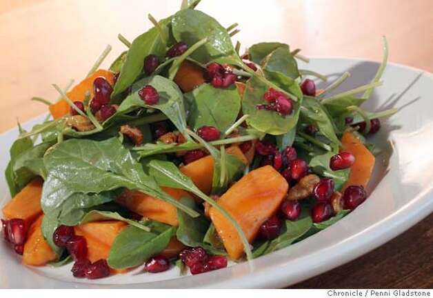 DINE22_somerset Somerset restaurant in Oakland Persimmon salad  Event on 12/19/06 in Oakland.  Penni Gladstone / The Chronicle MANDATORY CREDIT FOR PHOTOG AND SF CHRONICLE/ -MAGS OUT Photo: Penni Gladstone