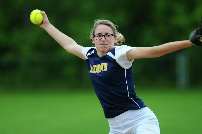 Albany Academy for Girls Becca Smith delivers a pitch during a scrimmage against Loudonville Christi