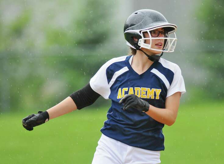 Albany Academy for Girls Becca Smith runs the bases during a scrimmage against Loudonville Christian