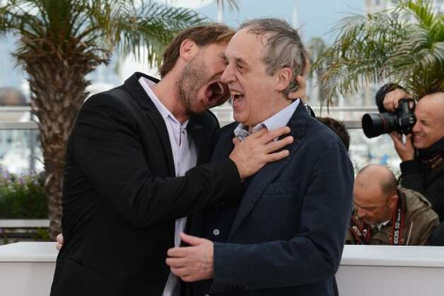 Bloodsucker: Actor Thomas Kretschmann and Director Dario Argento pose at the 'Dario Argento's Dracula 3D' photocall during the 65th Annual Cannes Film Festival. (Michael Buckner / Getty Images) / AL