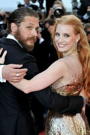 "Actors Tom Hardy and Jessica Chastain attend the ""Lawless"" Premiere during the 65th Annual Cannes Film Festival. (Gareth Cattermole / Getty Images) / AL"
