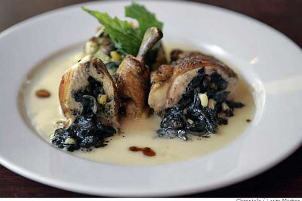 dine09_colibri072_lm.JPG Pechuga Rellena de Huitlacoche is one of the dishes on the menu at Colibri Mexican Bistro, located at 438 Geary Street in San Francisco, CA. Laura Morton/The Chronicle MANDATORY CREDIT FOR PHOTOGRAPHER AND SAN FRANCISCO CHRONICLE/ -MAGS OUT