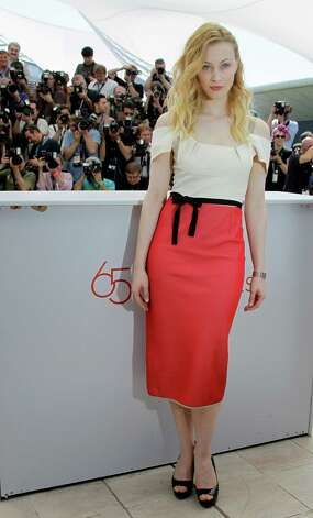 Actress Sarah Gadon poses during a photo call for Cosmopolis at the 65th international film festival, in Cannes, southern France, Friday, May 25, 2012. Photo: Francois Mori, AP / AP