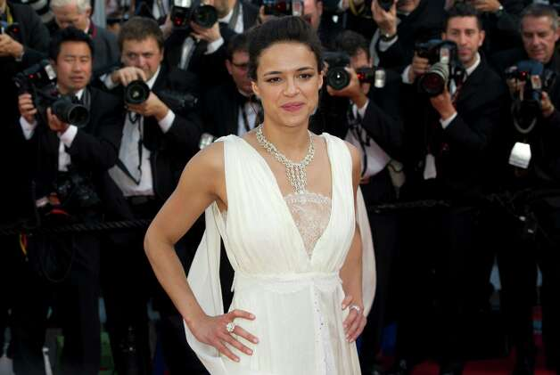 Actress Michelle Rodriguez arrives for the screening of Killing Them Softly at the 65th international film festival, in Cannes, southern France, Tuesday, May 22, 2012. Photo: Jonathan Short, AP / SHO