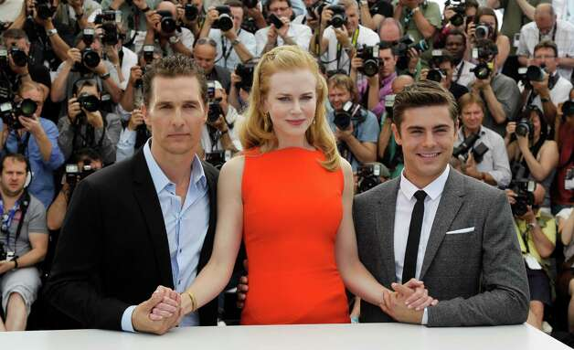 From left, actors Matthew McConaughey,   Nicole Kidman and Zac Efron pose during a photo call for The Paperboy at the 65th international film festival, in Cannes, southern France, Thursday, May 24, 2