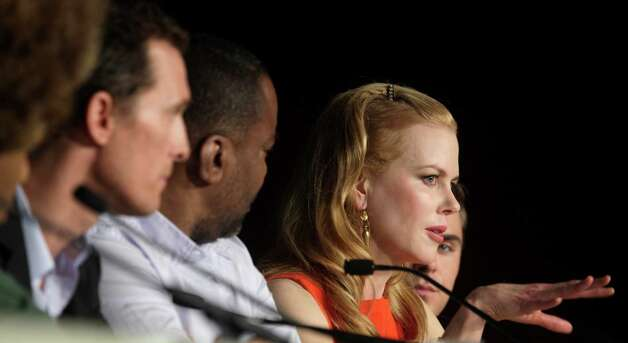 From right, actor Zac Efron, actress Nicole Kidman, director Lee Daniels, and actor Matthew McConaughey attend a press conference for The Paperboy at the 65th international film festival, in Cannes,