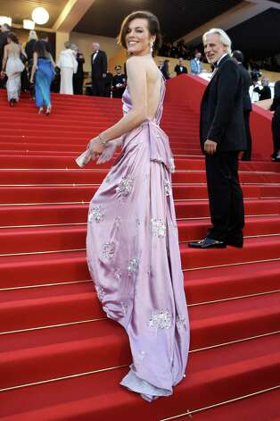 Model Milla Jovovich arrives for the screening of On the Road at the 65th international film festival, in Cannes, southern France, Wednesday, May 23, 2012. Photo: Lionel Cironneau, AP / AP