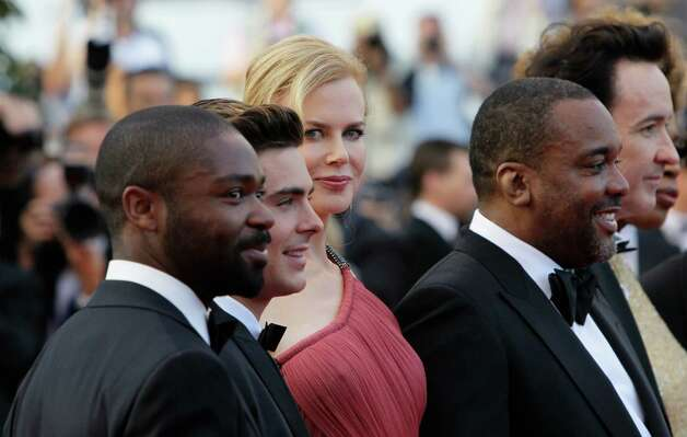 From left, actors David Oyelowo, Zac Efron, Nicole Kidman, director Lee Daniels and John Cusack arrive for the screening of The Paperboy at the 65th international film festival, in Cannes, southern F