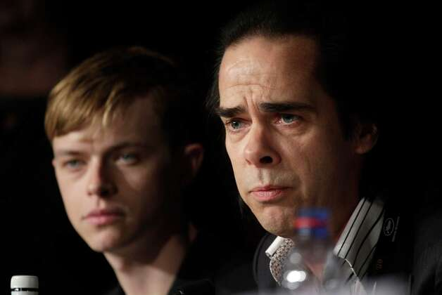 Actor Dane Dehaan, left, and screenwriter Nick Cave during a press conference for Lawless at the 65th international film festival, in Cannes, southern France, Saturday, May 19, 2012. Photo: Virginia