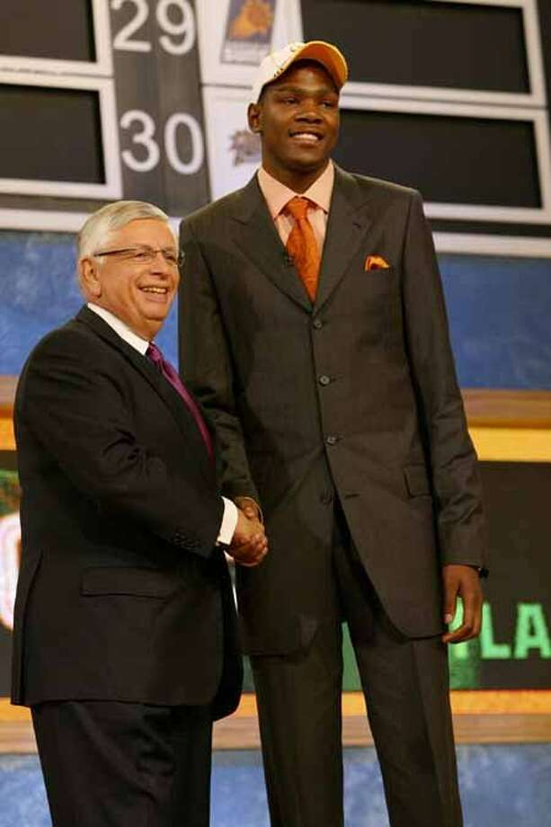 Kevin Durant (right) has come a long way since becoming the No. 2 pick in the 2007 draft out of Texas.