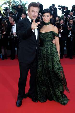 Actor Alec Baldwin, left, and Hilaria Thomas arrive for the screening of Killing Them Softly at the 65th international film festival, in Cannes, southern France, Tuesday, May 22, 2012. Photo: Joel Ry