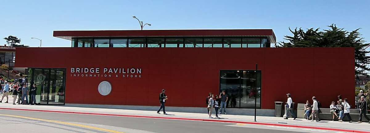 The Golden Gate Bridge, Pavilion and plaza have recently opened after an extensive remolding project. The project also offers new vista outlooks as well as walking and bike paths Thursday, May 24, 2012 in San Francisco Calif.
