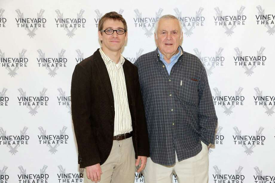 "Greg Pierce, left, and John Kander are collaborating on several theater projects, including ""The Landing"" and ""Slowgirl."" Photo: Astrid Stawiarz / 2012 Getty Images"
