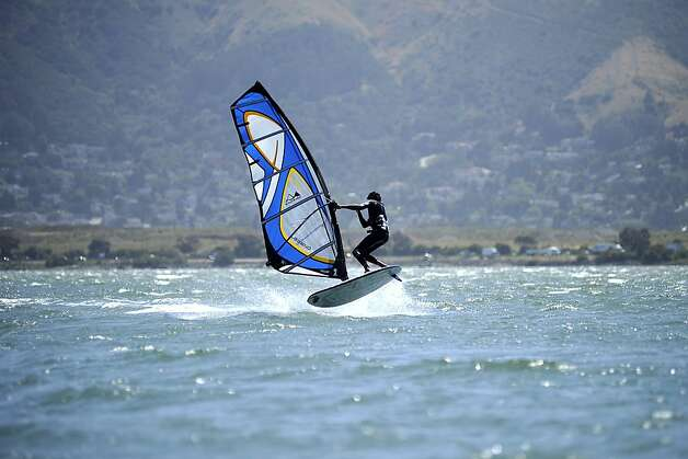 Candlestick Point, popular with windsurfers, has seen a rise in water quality according to an annual report by Heal the Bay. Thursday May 24th, 2012 Photo: Michael Short