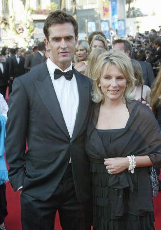 British actors Rupert Everett and Jennifer Saunders arrives at the festival ...