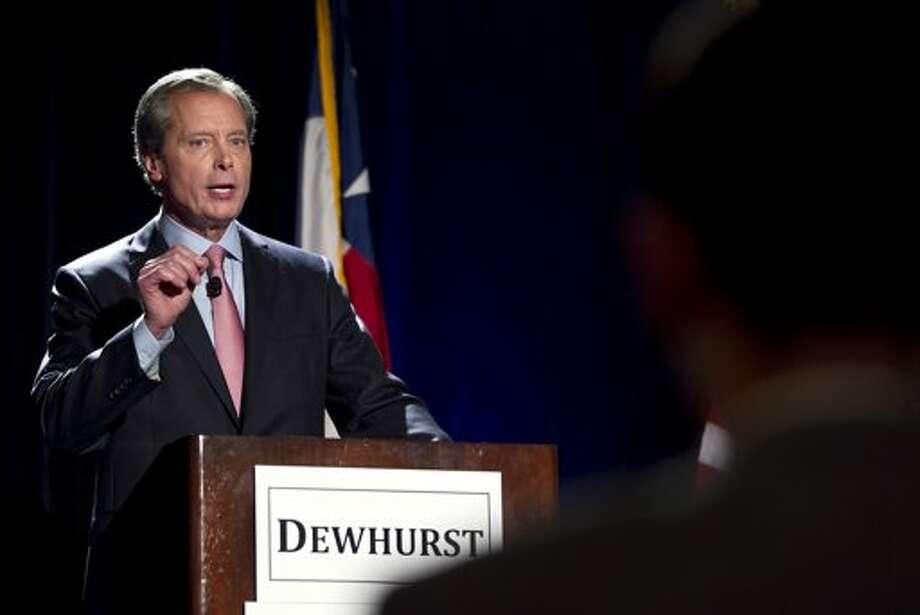 Lieutenant Governor David Dewhurst at a campaign event. (Associated Press)