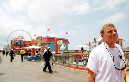 Pleasure Pier developer Tillman Firtitta on opening day, May 25, 2012, in Galveston. Photo: Karen Warren, Houston Chronicle / © 2012  Houston Chronicle