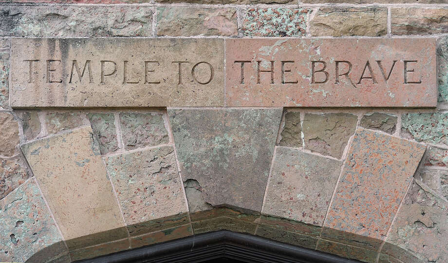 The Temple to the Brave will be open to the public on Memorial Day. the Doors are only opened for public viewing five times a year. Photo taken Thursday, May 24, 2012 Guiseppe Barranco/The Enterprise Photo: Guiseppe Barranco, STAFF PHOTOGRAPHER / The Beaumont Enterprise