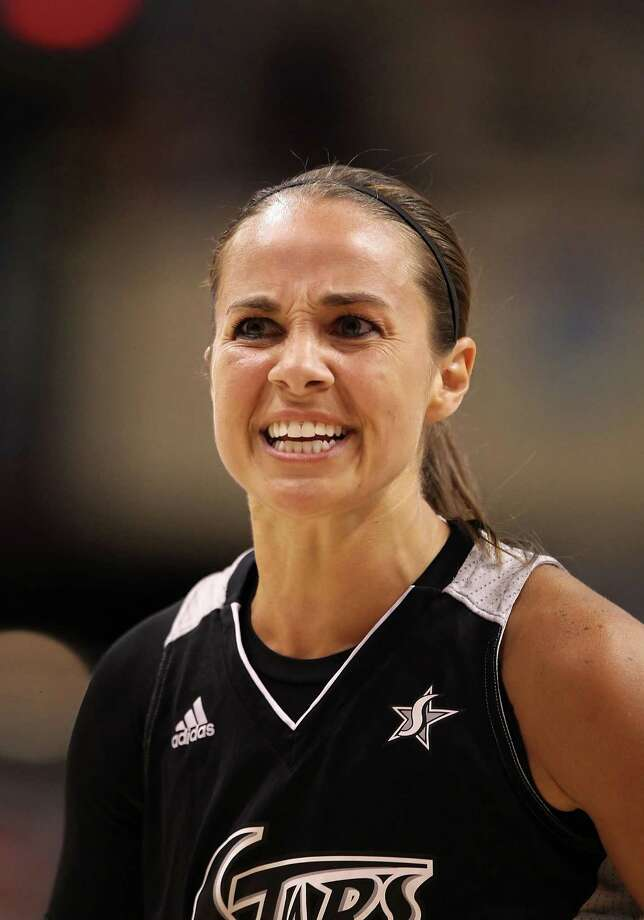 PHOENIX, AZ - AUGUST 20:  Becky Hammon #25 of the San Antonio Silver Stars reacts during the WNBA game against the Phoenix Mercury at US Airways Center on August 20, 2011 in Phoenix, Arizona. The Mercury defeated the Silver Stars 87-81.  NOTE TO USER: User expressly acknowledges and agrees that, by downloading and or using this photograph, User is consenting to the terms and conditions of the Getty Images License Agreement.  (Photo by Christian Petersen/Getty Images) *** Local Caption *** Becky Hammon Photo: Christian Petersen, Getty Images / 2011 Getty Images