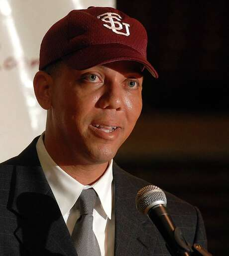 TSU's new Athletic Director Charles McClelland addresses the media during a press conference at the university Thursday April 10,2008. McClelland is leaving Prarie View A &M to fill the position. (Dave Rossman/For the Chronicle) Photo: Dave Rossman / Freelance