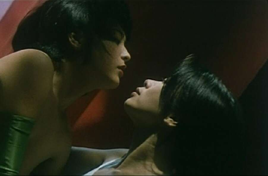 Naked Killer -- Carrie Ng and Madoka Sugawawa in the second of two classic sex scenes in