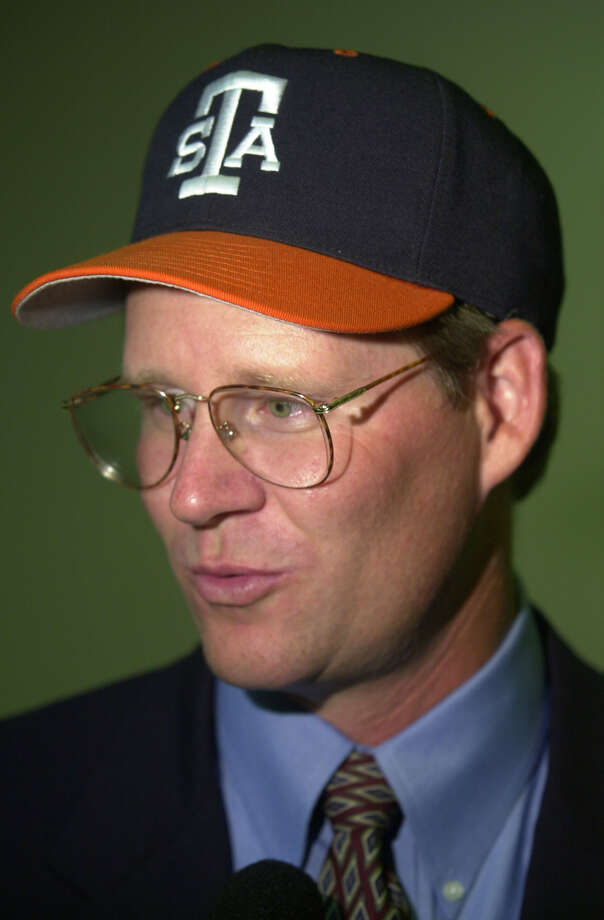This is UTSA baseball coach Sherman Corbett during a Wednesday afternoon July 12, 2000 reception at the UTSA University Center. Photo: WILLIAM LUTHER, Express-News