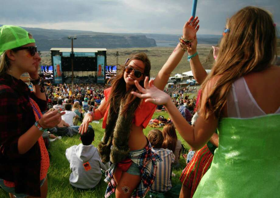 Concert attendees listen to music during the Sasquatch Music Festival at the Gorge Amphitheatre in George, Wash., on Friday, May 25, 2012. All photos after this point are from Friday. Photo: SOFIA JARAMILLO / SEATTPI.COM