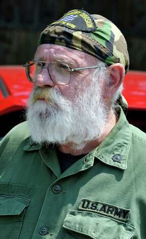 Bob Hansen is a Vietnam War veteran and took part in the Redding Memorial Day Parade Saturday, May 26, 2012. Photo: Michael Duffy / The News-Times