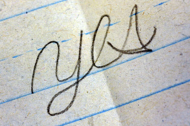 Detail of a student's cursive assignment at Waltersville School, in Bridgeport, Conn. April 12th, 2012. Photo: Ned Gerard / Connecticut Post