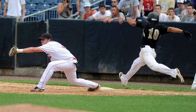 Saturday's FCIAC baseball championship game between Greenwich and Trumbull High Schools at the Ballpark at Harbor Yard in Bridgeport on May 26, 2012. Photo: Lindsay Niegelberg / Stamford Advocate