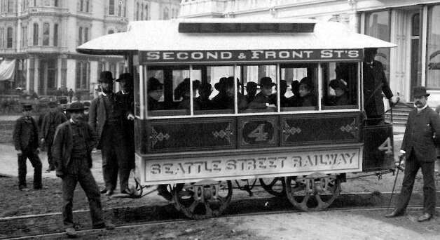 When was this picture taken of Seattle's first streetcar? Photo: Seattlepi.,com File