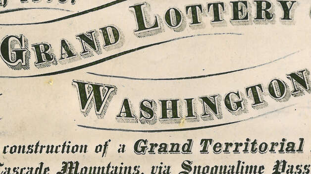 When was the first grand lottery held in Washington Territory? Photo: Seattlepi.,com File