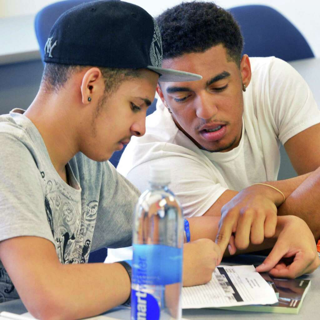 school for summer jobs times union albany high school students edgardo garcia 17 left and damin monge 17
