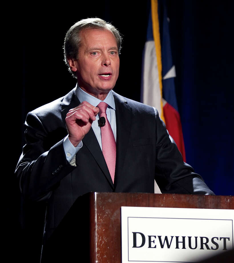 In this Jan. 12, 2012 file photo, Texas Lt. Governor David Dewhurst makes a point during a debate, in Austin, Texas. Photo: AP