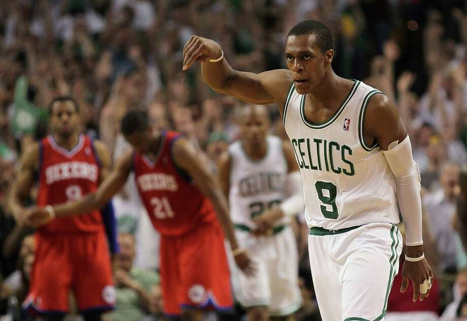 Rajon Rondo netted a triple-double - 18 points, 10 assists and 10 rebounds - to lead the Celtics to Game 7 win. Photo: Jim Rogash, Getty Images / 2012 Getty Images
