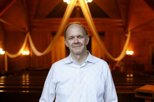 Paul Mowry is the new minister of the Sausalito Presbyterian Church and is the gay ordained priest in the ministry. Photo: Sean Culligan, The Chronicle